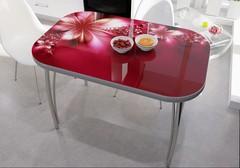 Стол со стеклом Фантазия