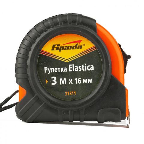 Рулетка Elastica, 3 м х 16 мм, обрезиненный корпус