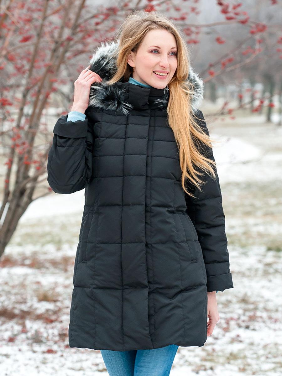 Joutsen пуховик Bea Fur черный - Фото 1
