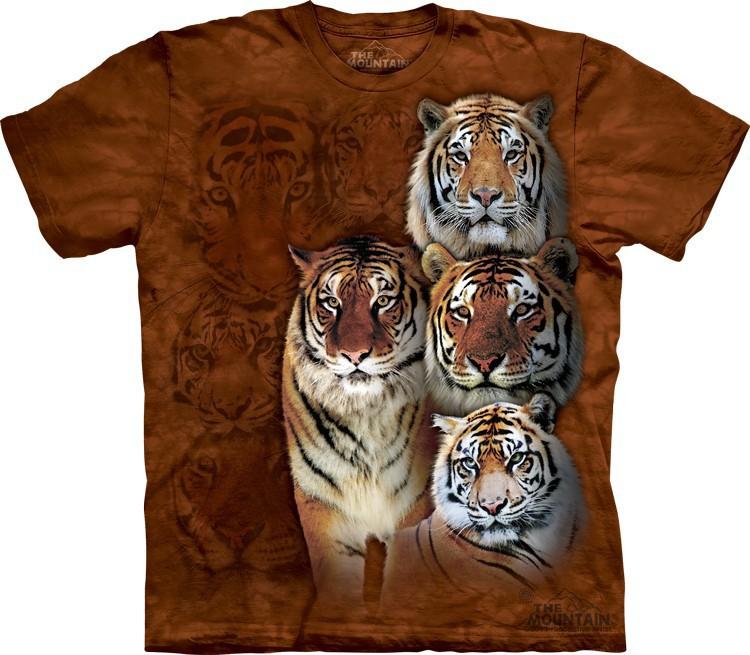 Футболка Mountain с изображением сибирского и бенгальского тигров -  Siberian & Bengal