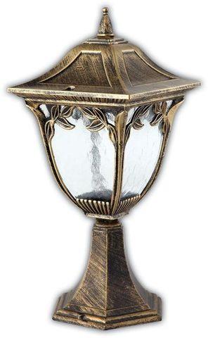 Светильник садово-парковый, 60W 220V E27 черное золото, PL4074 (Feron)