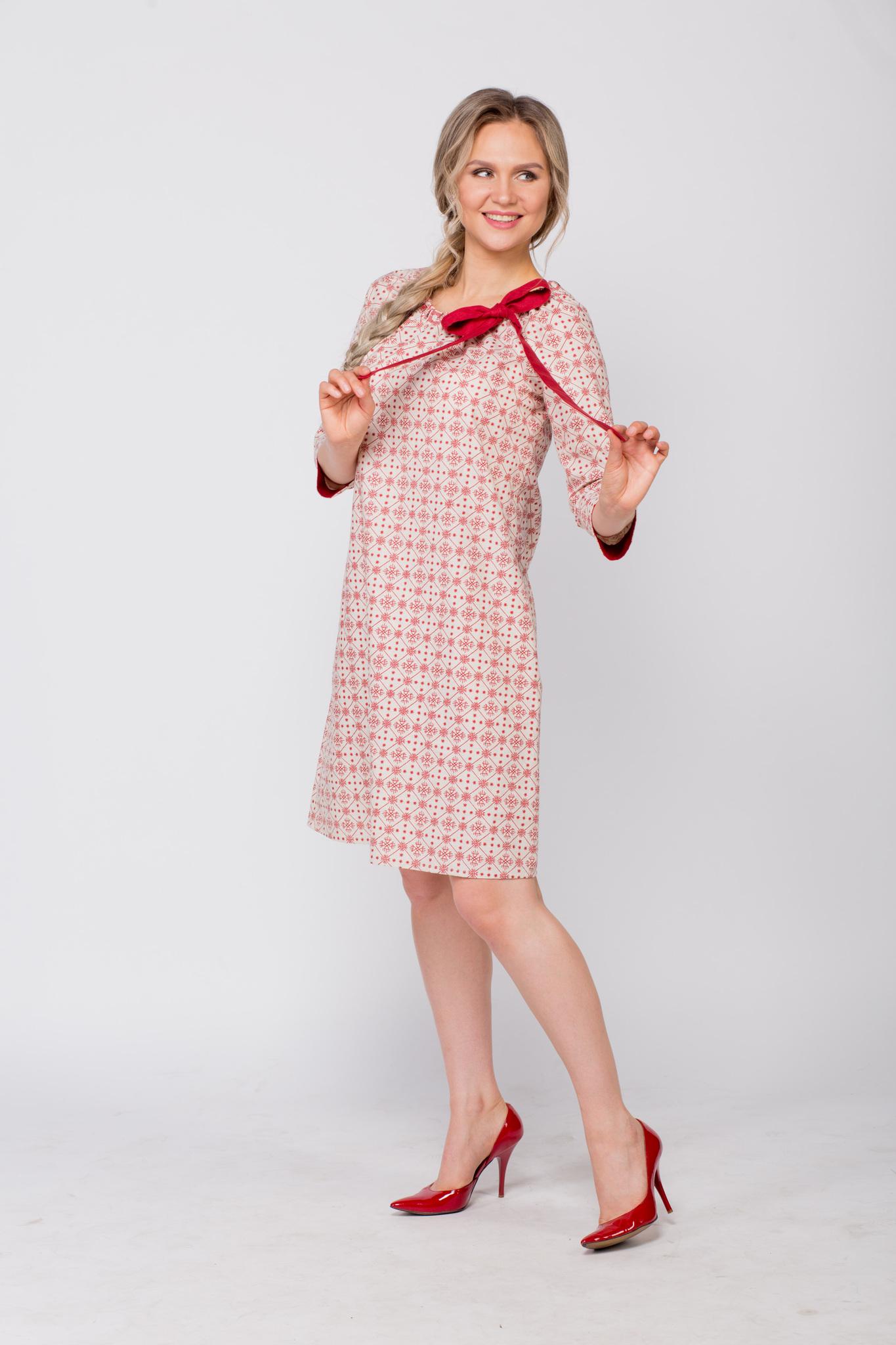 Платье льняное Очарование в русском стиле