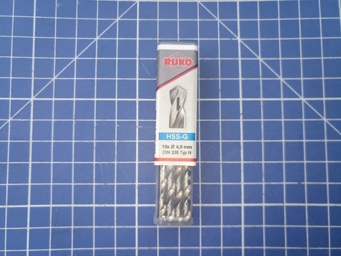 Сверло по металлу Ruko DIN338 h8 HSS-G 4,0х75мм 214040