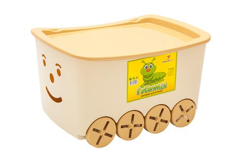 Контейнер для игрушек гусеница. Цвет: Бежевый