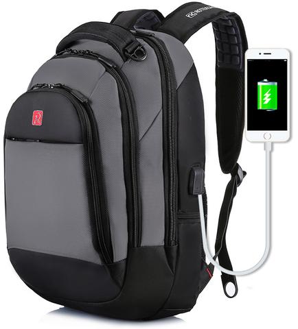 Рюкзак ROTERCORS 2016 USB Серый
