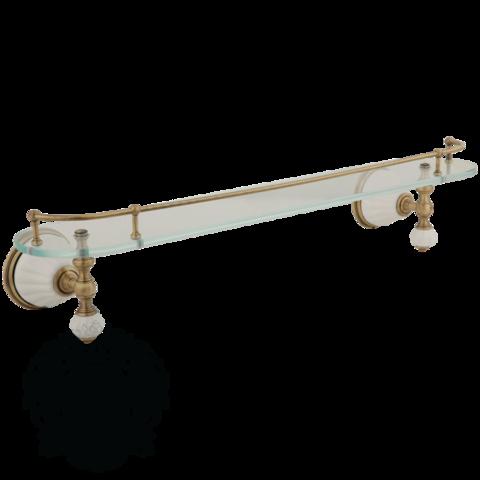 Полка Migliore Olivia ML.OLV-60.620.BI.BR белый/бронза с галереей стекло
