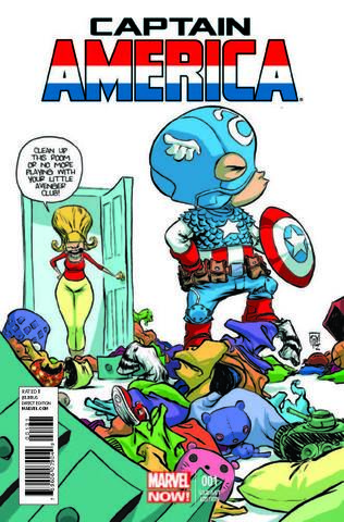 Captain America №1 (Variant Cover by Skottie Young)