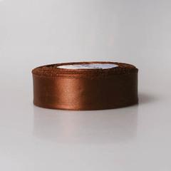 Лента атласная 1д х 23м коричневая 142