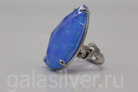 Кольцо с опалом из серебра 925