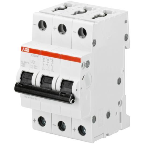 Автоматический выключатель 3-полюсный 25 A, тип C, 10 кА S203MT C25UC. ABB. 2CDS273065R0254