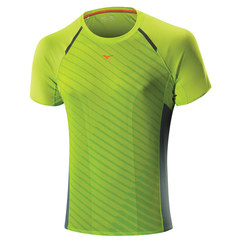 Мужская беговая футболка Mizuno Drylite Premium Tee зеленая (J2GA5003 37)