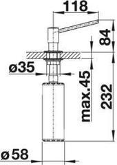 Дозатор Blanco Torre нержавеющая сталь схема