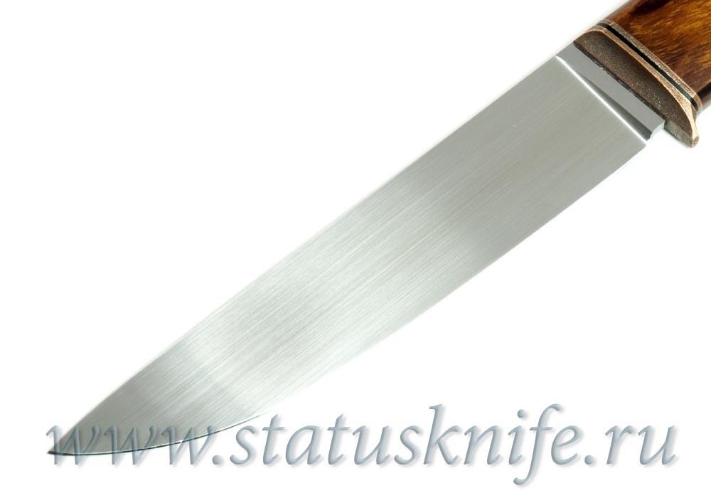 Нож авторский М390 медь G10 мельхиор ironwood