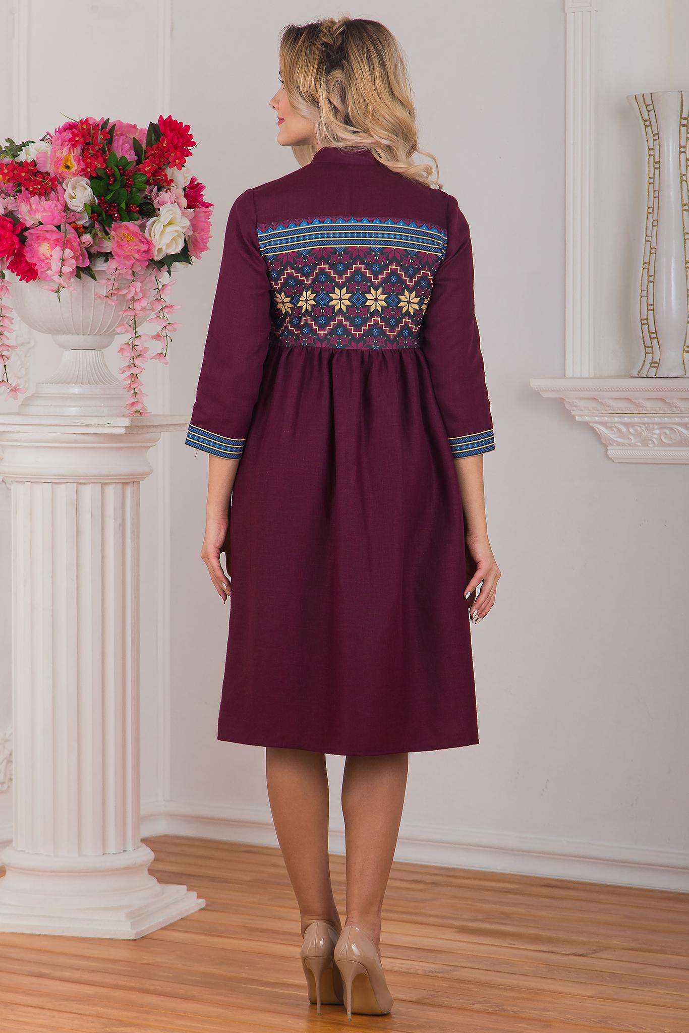 Платье бохо Каберне