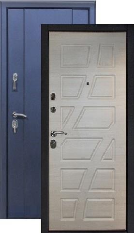Дверь входная Космо Андромеда, 2 замка, 1,5 мм  металл, (синий муар+капучино)