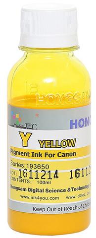 Чернила Dctec для Canon Pixma PRO, пигментные желтые (Yellow), 100 мл (Серия 193650)