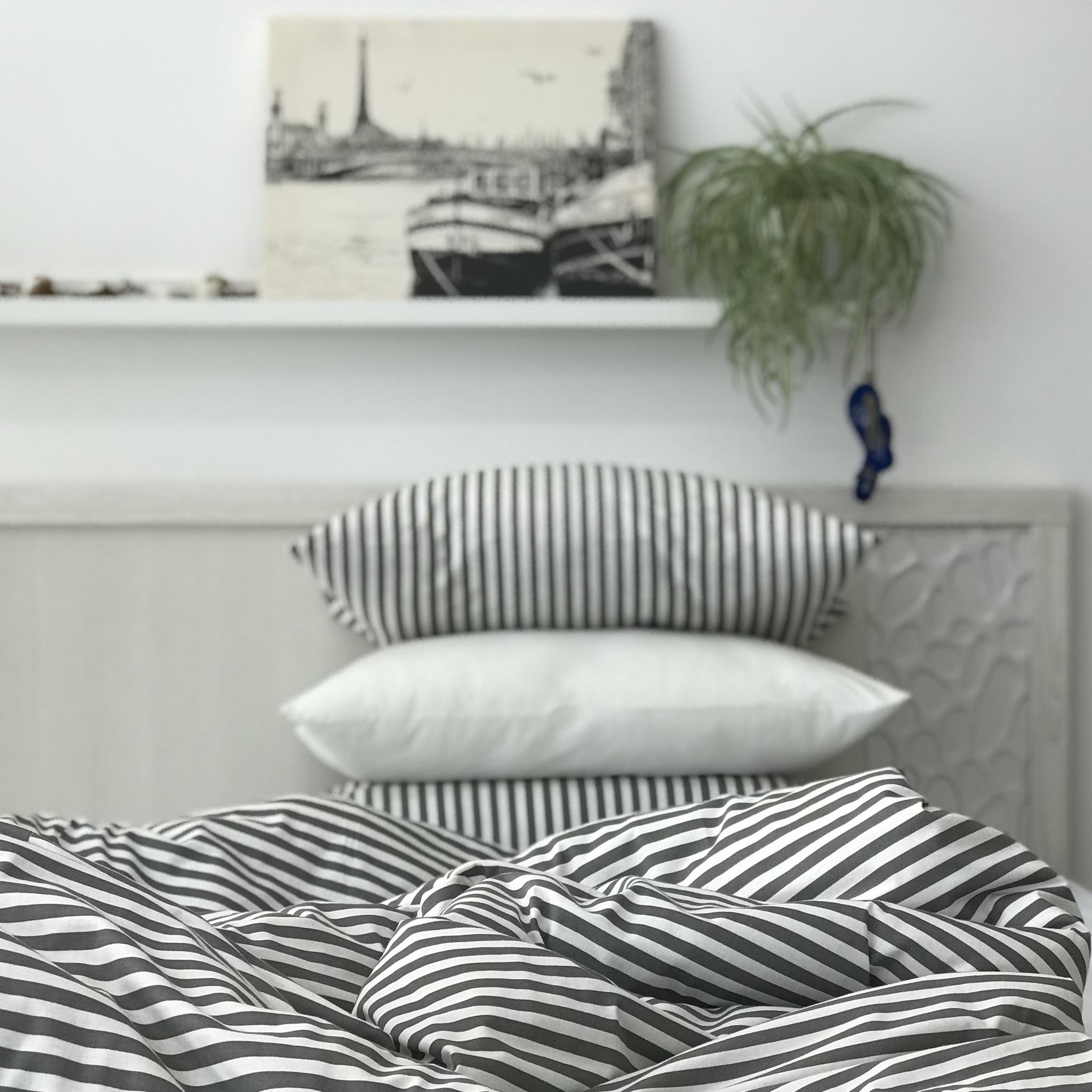 ПОЛОСКА - Двуспальная простыня на резинке