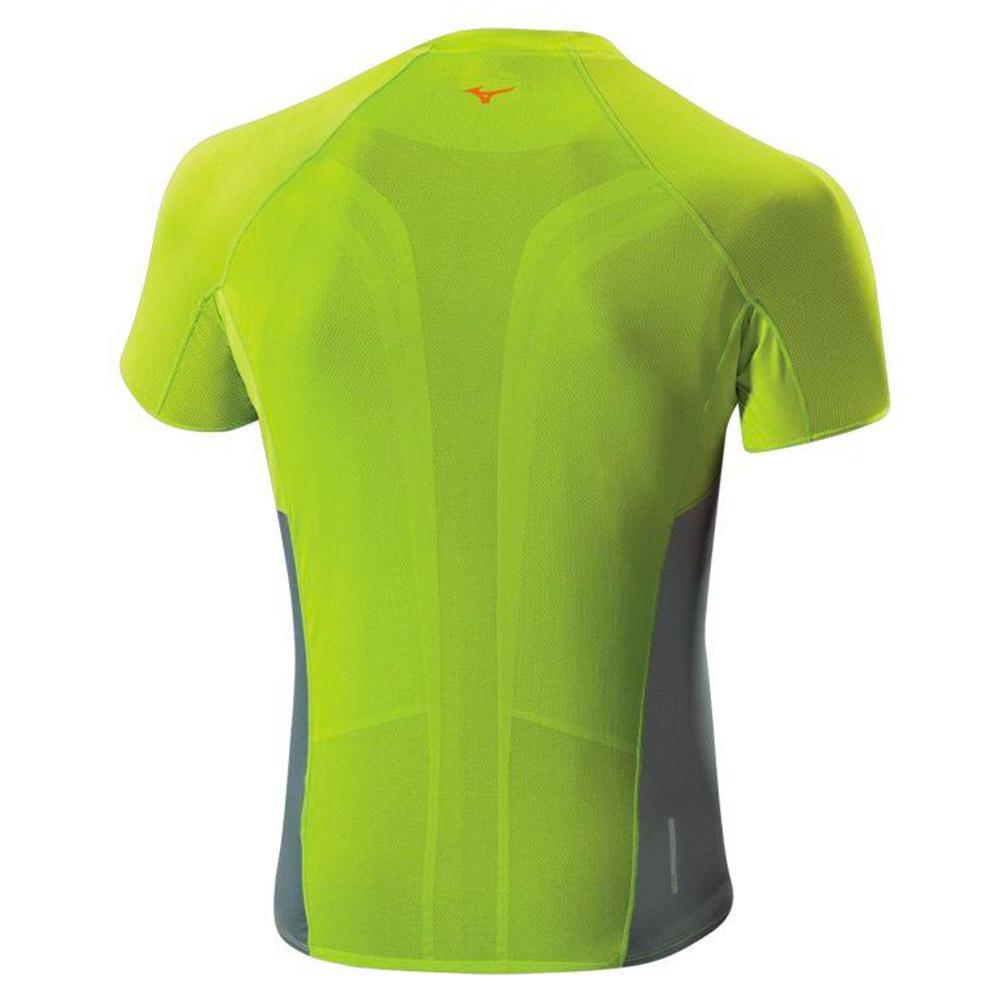 Мужская беговая футболка Mizuno Drylite Premium Tee зеленая (J2GA5003 37) фото