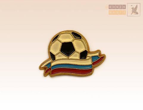 значок Футбольный мяч - Флаг