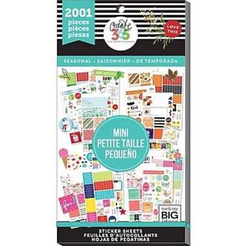 Блокнот со стикерами для ежедневника Create 365 Happy Planner Sticker Value Pack- SEASONAL - 2001 шт
