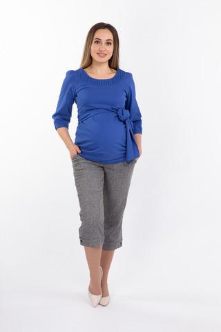 Туника для беременных 07155 голубой