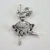 """Подвеска """"Балерина"""" (цвет - античное серебро) 23х13 мм"""