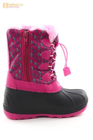 Зимние сапоги для девочек непромокаемые с резиновой галошей Свинка Пеппа (Peppa Pig), цвет фуксия, Water Resistant. Изображение 4 из 16.