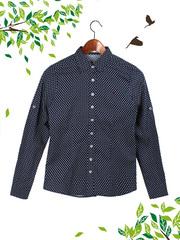 21017 рубашка женская, темно-синяя