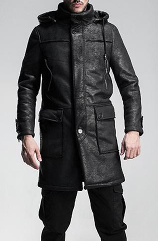 Мужское пальто ис. кожа