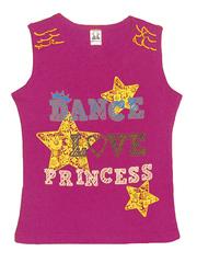 201515-2 футболка для девочек, малиновая
