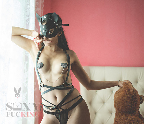 Анальный хвостик и маска БДСМ Кошка
