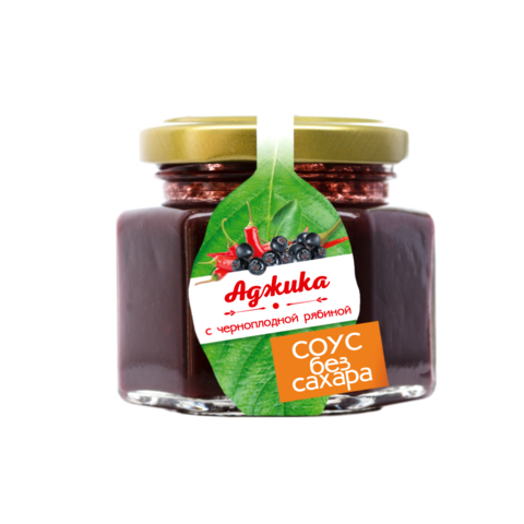 Соус без сахара: аджика с черноплодной рябиной