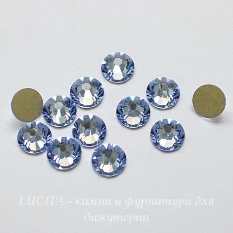 2088 Стразы Сваровски холодной фиксации Light Sapphire ss12 (3,0-3,2 мм), 10 штук