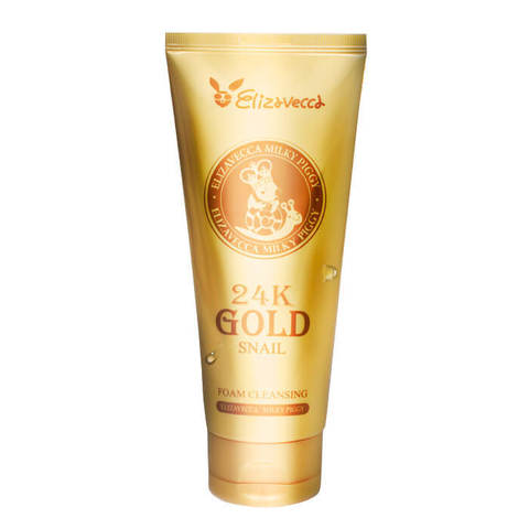 Пенка для умывания Elizavecca 24K Gold Snail Cleansing Foam