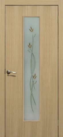 Дверь Сибирь Профиль Соло, цвет ясень 3D, остекленная
