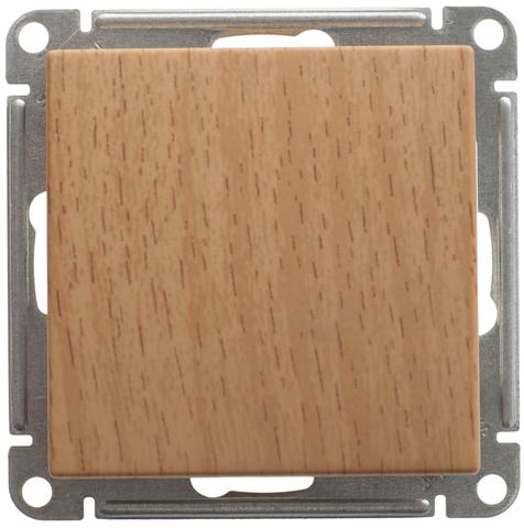 Выключатель одноклавишный, 16АХ. Цвет Бук. Schneider Electric Wessen 59. VS116-154-8-86