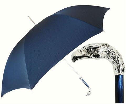 Купить онлайн Зонт-трость Pasotti 6768-2 W18PB Premium Silver Eagle в магазине Зонтофф.