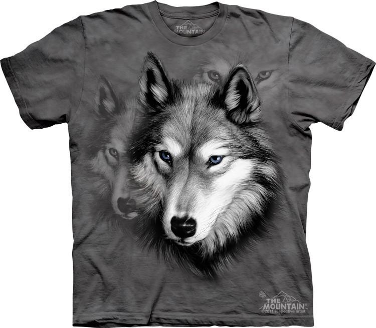 Футболка Mountain с изображением портрета волка - Wolf Portrait