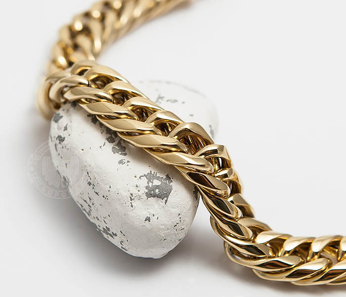 BM499-2 Золотистый мужской браслет из ювелирной стали (21 см) фото 02