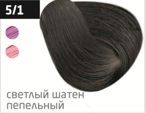 OLLIN performance 5/1 светлый шатен пепельный 60мл перманентная крем-краска для волос