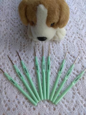 Крючки на пластиковой ручке 1 мм, 1,5 мм, 2 мм