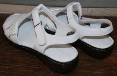 Модные босоножки без каблука Evromoda 15 White.