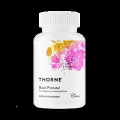 Thorne Research, Basic Prenatal, мультивитаминный и минеральный комплекс для беременных и кормящих мам, 90 капсул