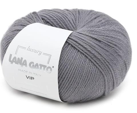 Пряжа Lana Gatto VIP 5513 серый