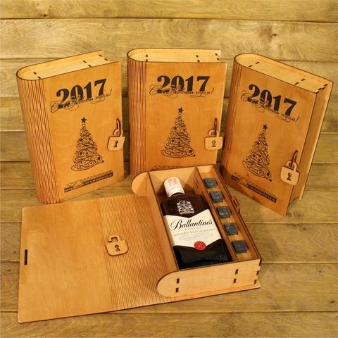 Коробка из фанеры для алкоголя Ballantines 1 л