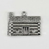 "Подвеска ""Домик"" (цвет - античное серебро) 31х23 мм"
