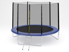 Батут с внешней сеткой и лестницей, диаметр 10ft (305 см)