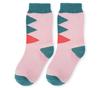 Носки детские розовые с рисунком Ромбы