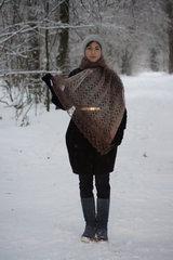 Оренбургский пуховый палантин 82