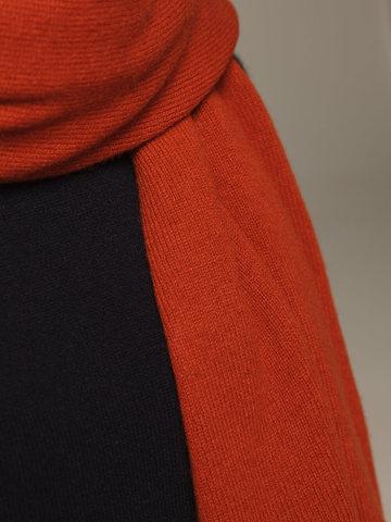 Женский шарф оранжевого цвета из 100% кашемира - фото 4